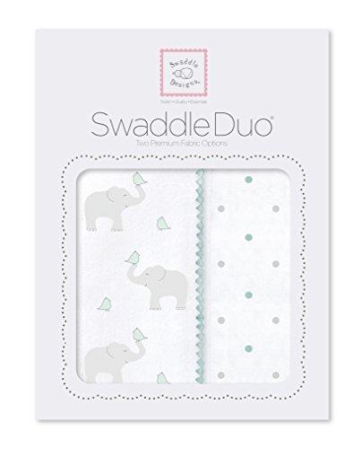 SwaddleDesigns SwaddleDuo Swaddling Blankets SeaCrystal