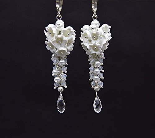 Wedding Earrings Flower Floral Earrings Bridal Earrings Miniature Flowers Flower Earrings Lily Of The Valley Earrings Bridesmaids Gifts