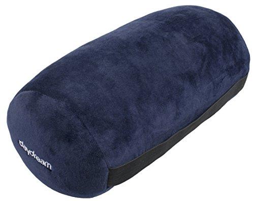 Daydream N-8003 Nackenrolle mit Mikroperlen aus elastischem Plüsch, dunkelblau