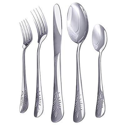 Utopia Kitchen 20 Piece Stainless Steel Flatware Set