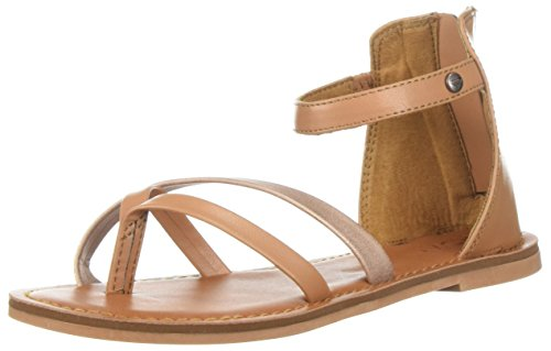 Roxy Girls' RG Sabrina Flat Sandal, Tan, 4 M US Big Kid Big Kids Tan Apparel