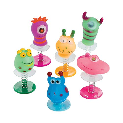 Monster Ups - Fun Express Vinyl Monster Pop-Ups (12 Piece)