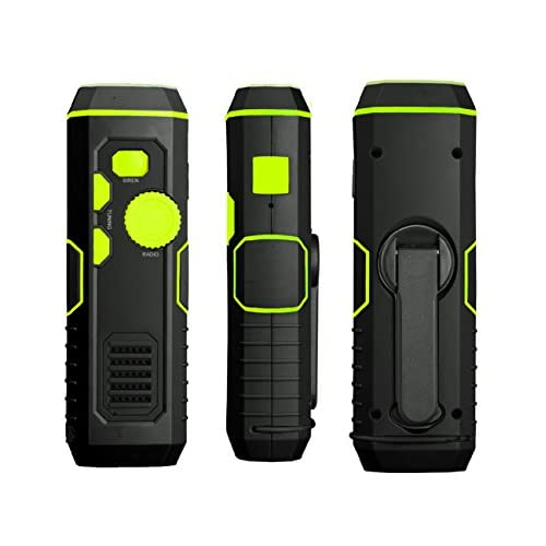 Emergency Hand Crank Power Self Powered FM Radio w// Bright LED Flashlight Torch