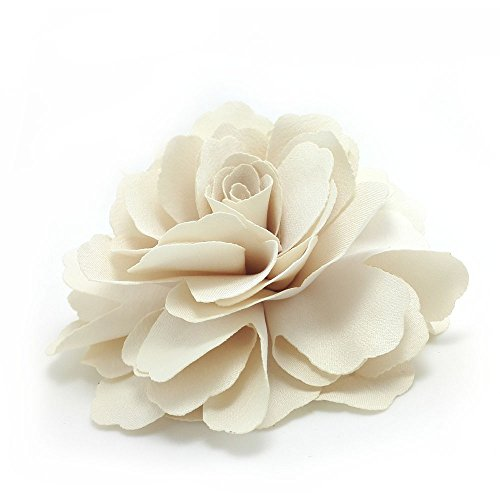 - Meilliwish Camellias Flower Hair Clip and Brooch Pin (Cream) (A74)