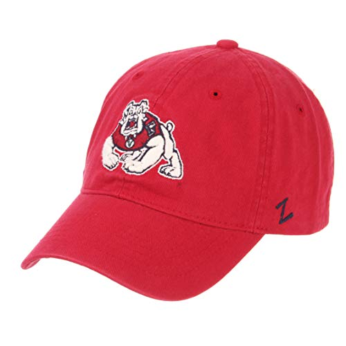 ZHATS Fresno State Bulldogs Scholarship Relaxed Fit Dad Cap - NCAA, Adjustable One Size Red Baseball Hat