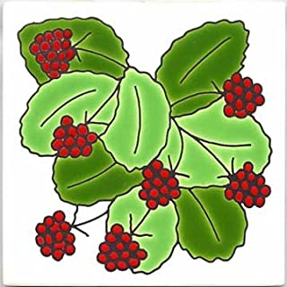 product image for Besheer Art Tile Fruit and Vegetable Tiles, Wall PLAQUES, TRIVETS - Raspberry Design