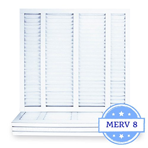 21 1/2 x 23 5/16 x 1 Air Filter, Pleated, MERV 8 (Case of 4) Fits Listed Models of Carrier, Bryant & Payne