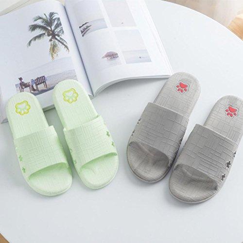 Malloom® Frauen Lattice Flat Bad Hausschuhe Sommer Sandalen Indoor & Outdoor Hausschuhe Anti-Rutsch-Bad Bad Hausschuhe Grün