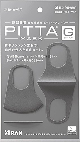 Arax Pitta Mask  Gray  0 13 Pound