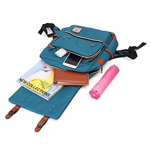 para OURBAG alta hombro capacidad de Bolso gris Bolsa maletín Azul de Cielo Mochila Mochila casual portátil PPnwqfaRWS