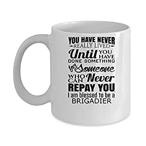 Funny BRIGIER Jobs Mugs - I Am Blessed BRIGADIER Best Sarcastic Mug Gift For Him,Her, Adult.. On Thanks Giving, Christmas Day, White 11Oz Coffee Mugs