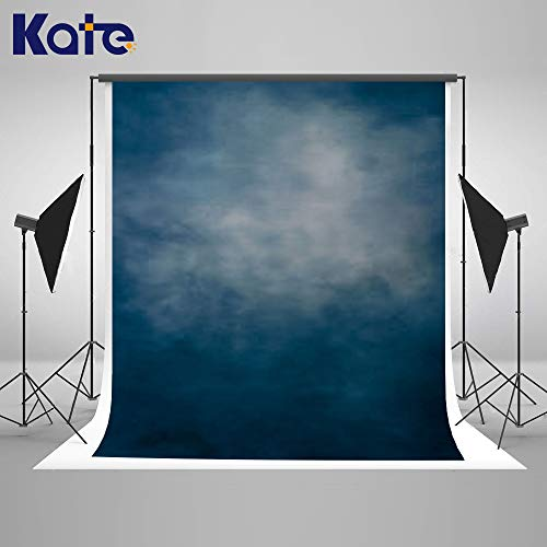 Kate 5×7ft Oil Painting Old Master Blue Background Portrait Photography Abstract Texture Backdrop Photography Studio Props for Photographer Kids Children Adults