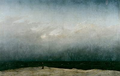 Monk by the Sea by Caspar David Friedrich. 100% Hand Painted. Oil On Canvas. Reproduction. (Unframed and Unstretched).
