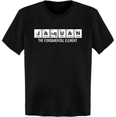 Jaquan Table - Jaquan The Fundamental Element Periodic Table T-Shirt Black