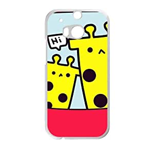 cartoon cute giraffe personalized creative custom protective phone case for HTC M8 by runtopwellby Maris's Diary