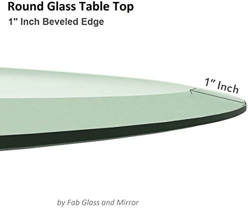 Glass Table Tabletop Round 70cm 10mm Clear Glass Chimney
