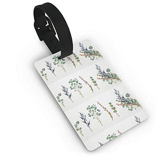 Flowers and Herbal Garlands Fashion Cruise Luggage Tag Labels Set Compatible Bags