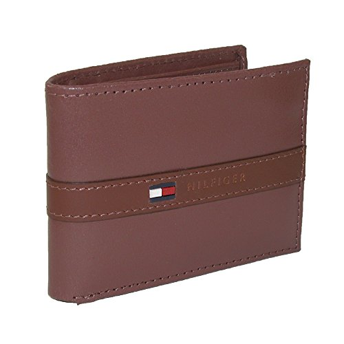 Tommy Hilfiger Men's Ranger Leather Passcase Wallet with...