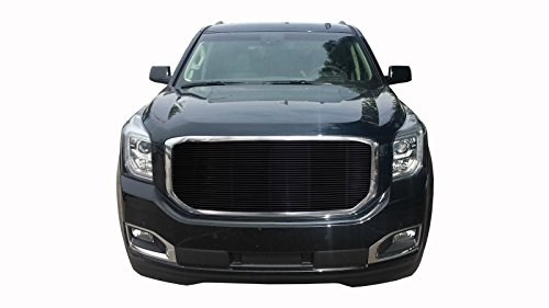 GTG 2015-2019 GMC Yukon and Yukon XL 1PC Gloss Black Insert Billet Grille Grill