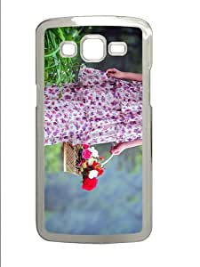 Samsung Gcover most protective Girl Flower Basket PC Transparent case/cover for Samsung Galaxy Grand 2/7106