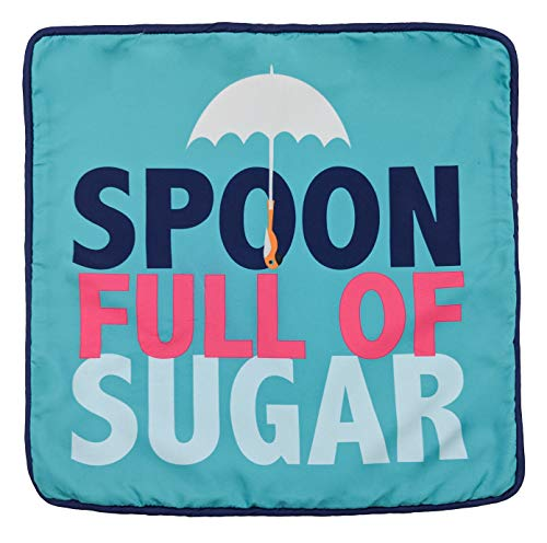 Mary Sugar Spoon - Jay Franco Disney Mary Poppins Spoon Full of Sugar Decorative Pillow Cover - Kids Super Soft 1-Pack Throw Pillow Cover - Measures 15 Inches x 15 Inches (Official Disney Product)