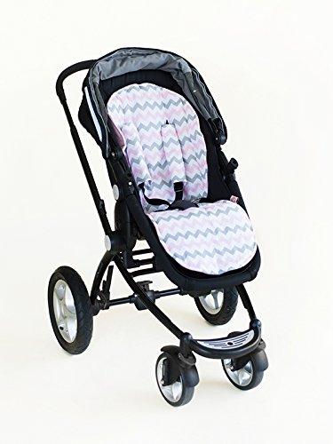 Bambella Designs Stroller Liner - Chevron Pink