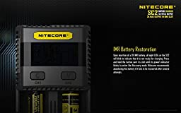Nitecore SC2 Superb Charger Quick High-Speed Charge Bundle with EASTSHINE 2PCs 3500mAh E35U Flat Top 10A 18650 Li-ion Batteries