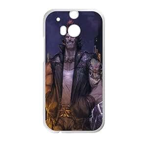 O5B97 funda caso akuma street fighter funda V8W7TN HTC uno M8 teléfono celular de cubierta AK4BJW9WQ blanco