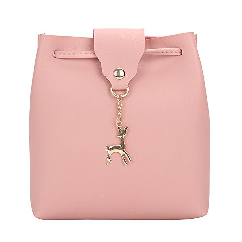 Purse Bags Bag Leather Pink ZOMUSA Pendant Messenger Clearance Deer Womens Shoulder Small Crossbody Bag vZx77qpzw