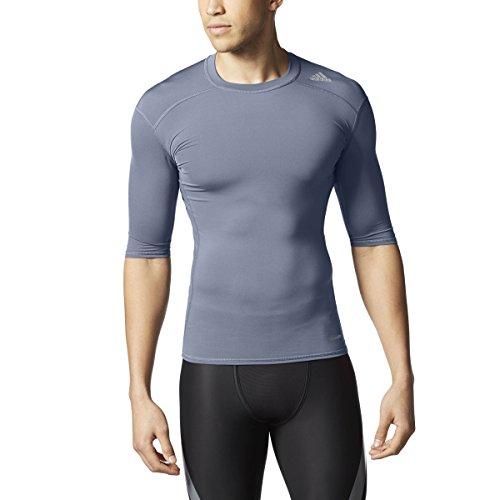Adidas 2015 Techfit Base Mens Short Sleeve Training Shirt S Onix