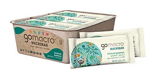 - GoMacro MacroBar Organic Vegan Snack Bars, Granola + Coconut, 2 Ounce Bars (Pack of 12)