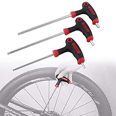 1Set of Bike Hex Wrench Tool Multi-functional Tool Long Handled Key Wrenches,Durable Plastic Three Hex Wrench Multi-functional Headset Pedal Stem: Automotive