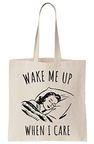 When Care Me Wake Bag Up Tote Canvas I wEzqPq8