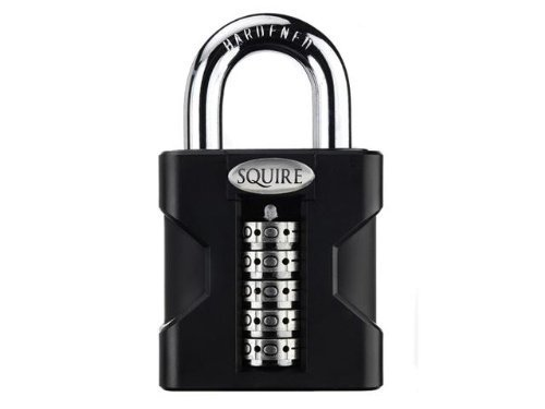 Squire SS50/COMBI 50mm Hi-Security Open Shackle Combi Padlock and Instruction by Squire