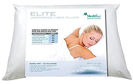 The Water Pillow by Mediflow Elite Fiberfill Pillow Twin Pack -The first and original water pillow, clinically proven to reduce neck pain and improve sleep. 1006510102