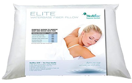 Mediflow 1066 Elite Fiberfill Waterbase Pillow - The world's first water pillow, clinically proven to reduce neck pain and improve sleep.