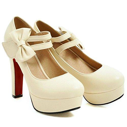 Zanpa Sandals Pumps Women 2 Sweet Beige rcRqrW0ypw