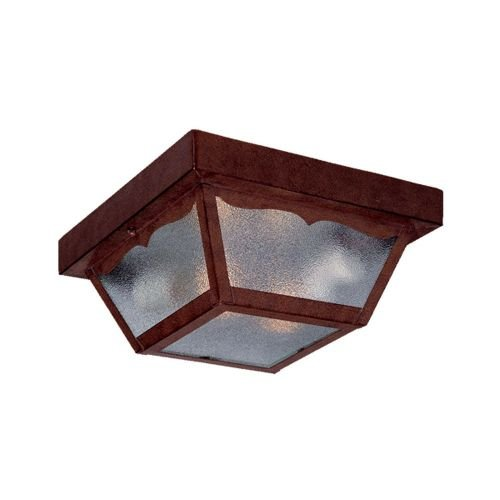 Acclaim 4902BW Builder's Choice Collection 2-Light Ceiling Mount Outdoor Light Fixture, Burled Walnut