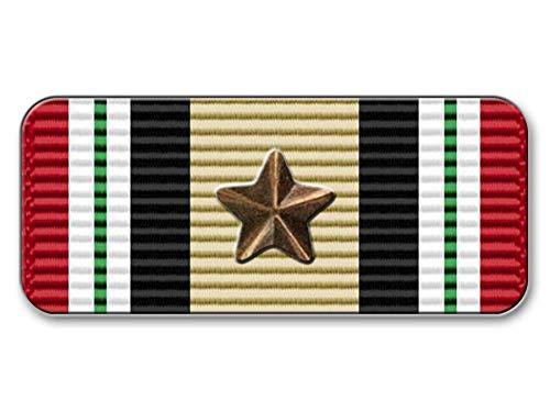 West Coast Curb-N-Sign Big Military Ribbons, Vinyl Sticker, Decals (Iraq Campaign)