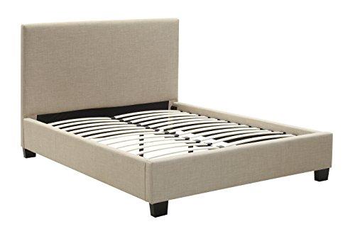 - Modus Furniture 3ZL7L5BH8 Saint Pierre Linen Headboard, Queen, Toast