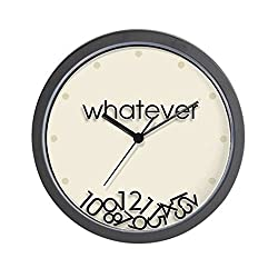CafePress Whatever Unique Decorative 10 Wall Clock