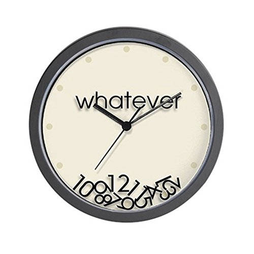 CafePress Whatever Unique Decorative Clock