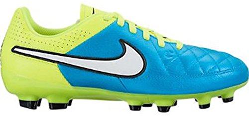 Nike Womens Tiempo Genio FG Soccer Cleats (Blue Lagoon/Volt/Black/White) (7) (Volt Football Cleats compare prices)