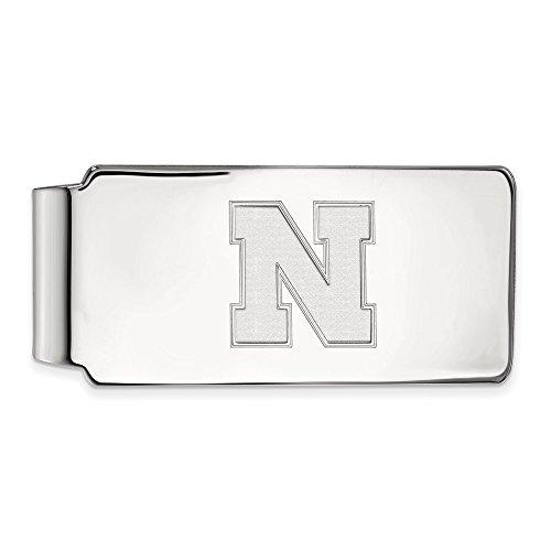Licensed LogoArt Silver Official Sterling Nebraska University UNK Collegiate of Money Clip dt5wqqF