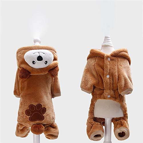 Pet Clothes Dog Cat Cute Pig Brown Bear Elephant Koalas Transfiguration Coat Dress Up Warm Dog Apparel Jacket Small Pet Clothes Sweatshirt Pig Sweater Dog Winter Outfits Doggy Costume (Coffee, S) by succeedtop (Image #4)