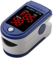Contec Finger Tip Pulse Oximeter - Blood Oxygen Saturation (SpO2) and Pulse Rate Monitor - Portable LED Displa