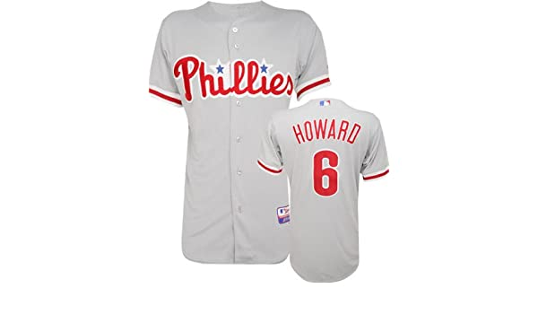 official photos 0e4e1 bf1db Amazon.com : Majestic Ryan Howard Road Authentic Onfield ...