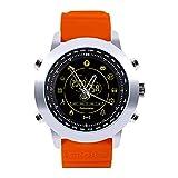 Alloet DX18 BT4.0 Outdoor Sports Smart Watch Waterproof Wristwatch(Silver+Orange)