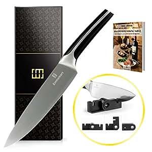 EMMSMART Professional Chef's Knife| Multipurpoase | High Carbon Ultra Sharp Steel Blade | Superior Stainless Steel | Great Gift Box + Bonus: Mini Knife Sharpener + eBook