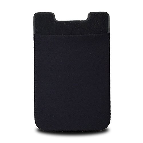 PAGGER Stick-on Wallet Lycra Phone Card Holder, Credit Card Student Card Holder, Money Clip Pouch for Most Smart Phones (Black) (Best Credit Card For International Students)